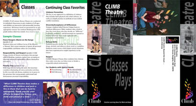 Side 2 of Climb Theatre brochure