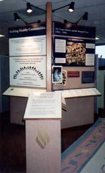 Image of Vesper Society display wall